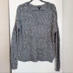 Express Zipper Shoulder Sweater